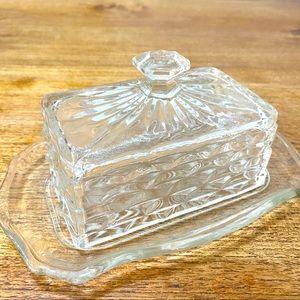 Vintage Crystal butter dish